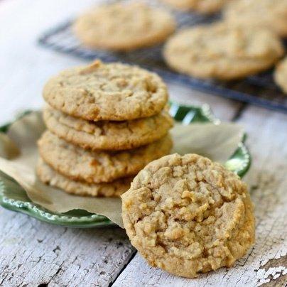 A perfect fall dessert- Apple peanut butter cookies en