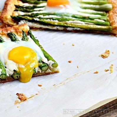 Asparagus goat's cheese tart en