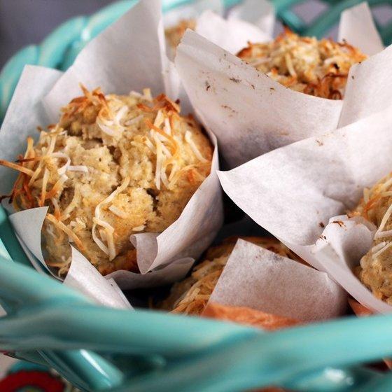 Banana coconut muffins en