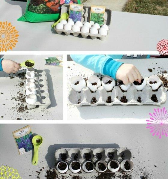 Jarní tvoření s dětmi – zahrádka z vajíček