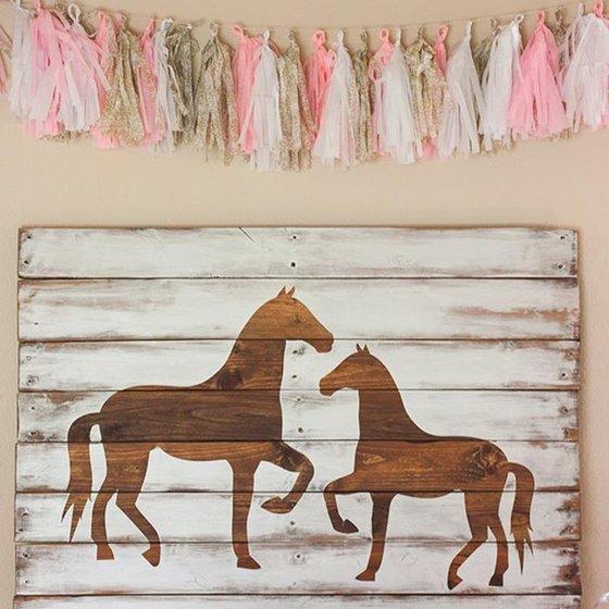 """Narozeninová party na téma """"koně"""""""