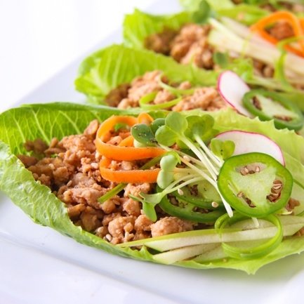 Vietnamese lettuce wraps en