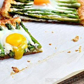 Asparagus goat's cheese tart