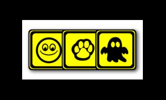 Square stickers - no name