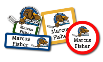 Club Logo Labels
