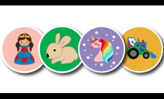 Round stickers - no name