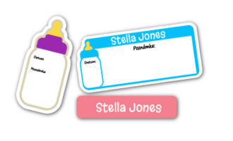 Write-On Baby Bottle Labels