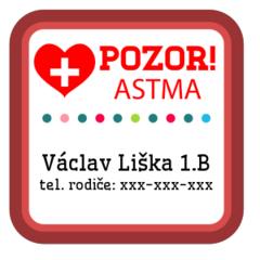 Astma - zdravotní štítky
