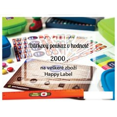 Gift certificate 2000,- Czk
