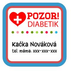 Diabetik - zdravotní štítky