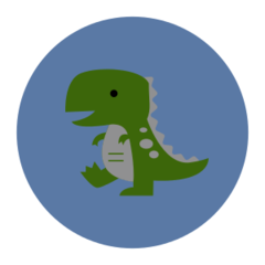 Dino - reflective stickers