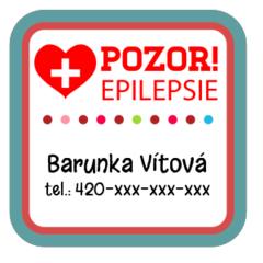 Epilepsy - medical alert labels