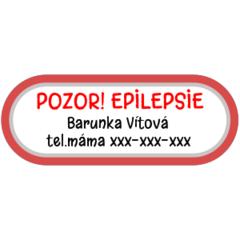 Epilepsie - zdravotní štítky