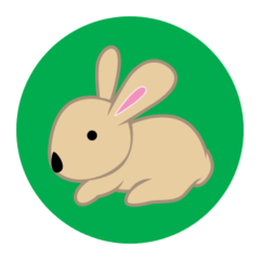Bunny - reflective stickers