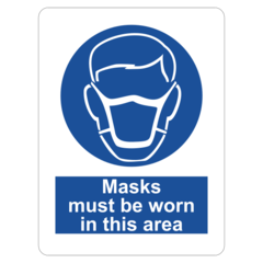 Masks must be worn in this area