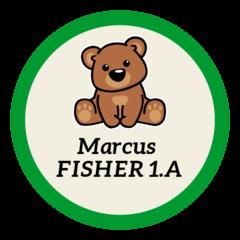 Medvěd - nažehlovací štítky