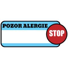 Pozor Alergie - popisovatelný štítek
