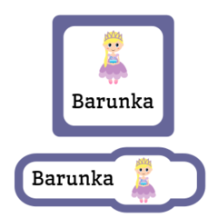 Princess iron on labels