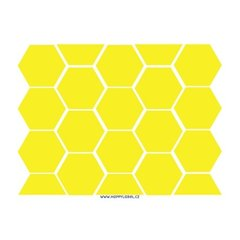 Hexagon - reflective stickers