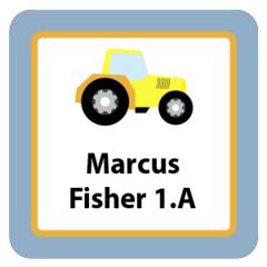 Traktor - nažehlovací štítky